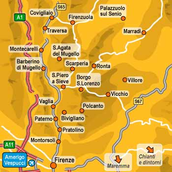 Useful map of Mugello