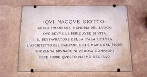 Giotto's birthplace, Vicchio, Mugello